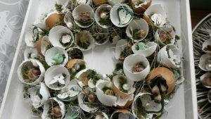 Kurs: Osterkranz aus Eierschalen